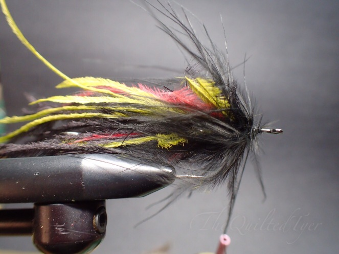 Start with one color, just a few turns of marabou