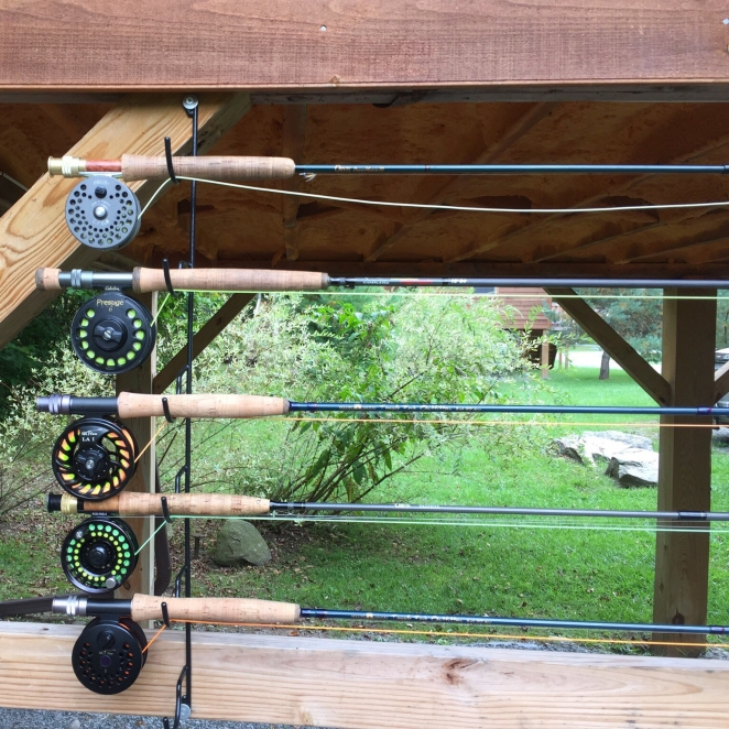 Rod holders on Creekside Cabins: -Photo: Frank DeGrazio