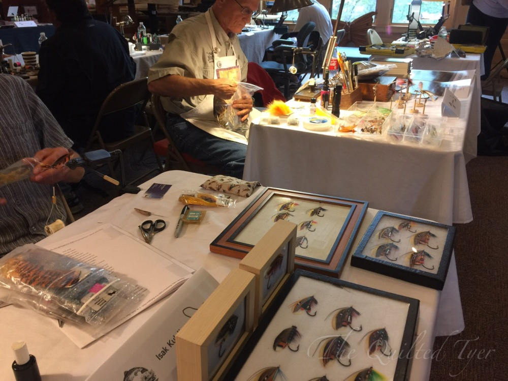 Fly tyers at Partridge Days.