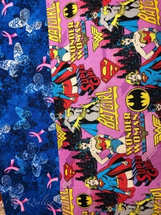 Breast Cancer Ribbons and Wonder woman