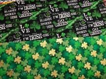 Irish fabrics and shamrocks