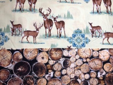 Deer and wood