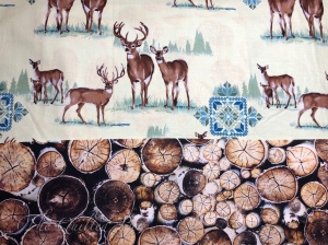 Deer and wood