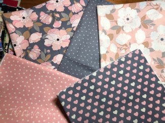 Grey and pink flower and patterns