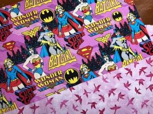 Wonderwoman and pink birds