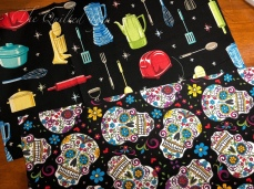 Retro appliances and sugar skulls