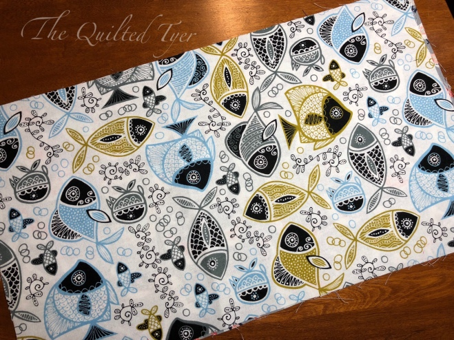 White background fish pattern