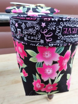Breast Cancer Awareness fly tying scrap bin