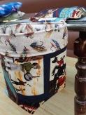 Western Theme fly tying scrap bin
