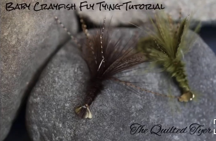 Baby crayfish fly pattern